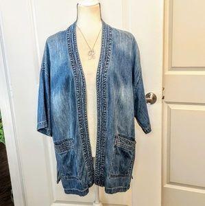 Kimono style denim jacket